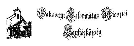 Taksonyi Református Missziói Egyházközség embléma (inverz)