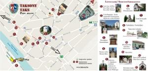 Taksony: kis térkép (látnivalók). Formátum: pdf.